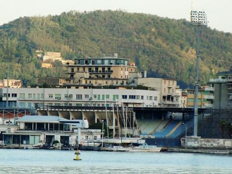Stadio Sinigaglia from Como Lake