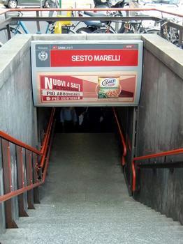 Sesto Marelli Metro Station, access