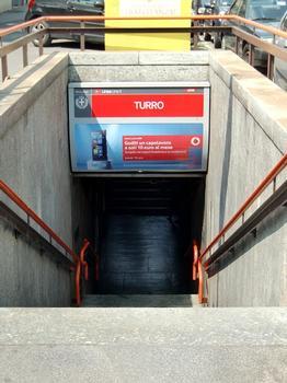 Turro Metro Station, access