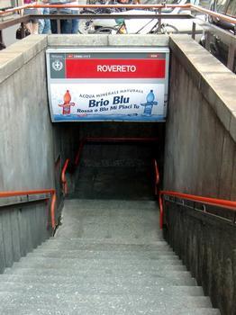 Rovereto Metro Station, access
