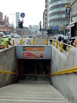 Sondrio Metro Station, access