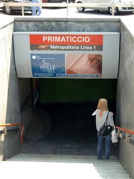 Primaticcio Metro Station access