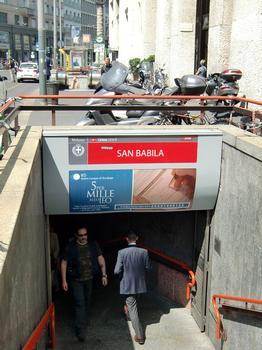 San Babila Metro Station, access