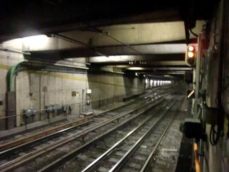 Pagano Metro Station, start of branches Pagano-Molino Dorino and Pagano-Bisceglie