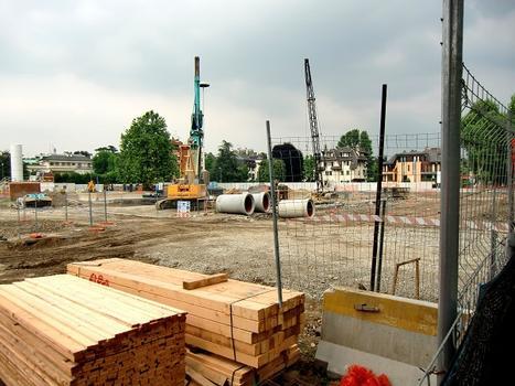 San Siro Trotter Metro Station under construction