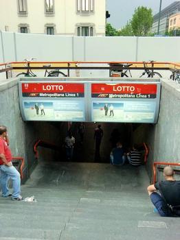 Lotto Metro Station, access