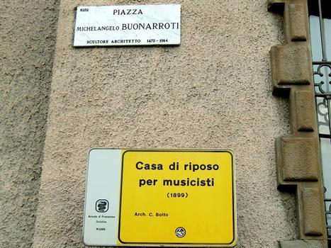 """Casa di Riposo per Musicisti """"G.Verdi"""", info panel"""