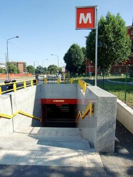 Comasina Metro station, access