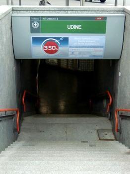 Udine metro station, access