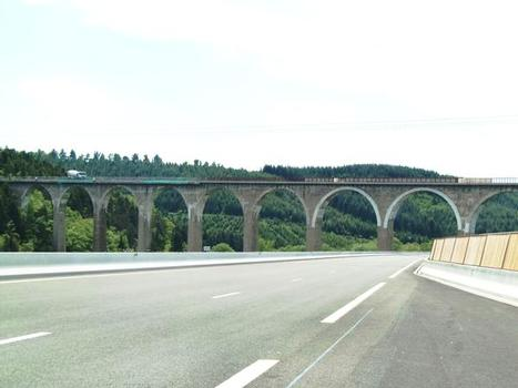Viaduc du Pont Marteau from A89 motorway