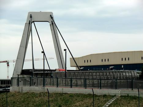 Malpensa airport north cable stayed bridge, terminal 1