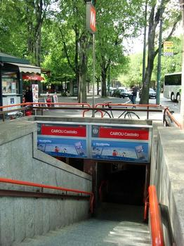 Cairoli Castello Metro Station, access