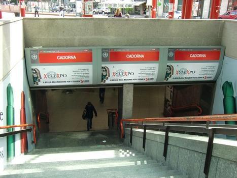 Cadorna FN Metro Station, access