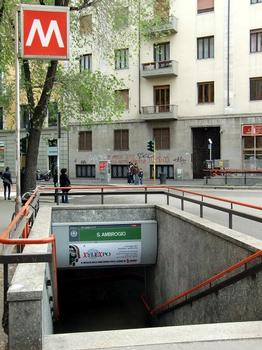 Sant'Ambrogio Metro Station, access