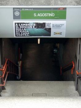 Sant'Agostino Metro Station, access