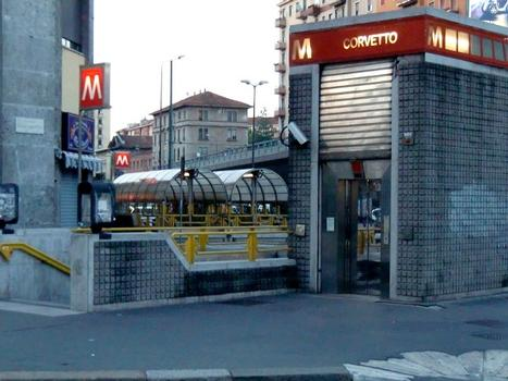 Corvetto Metro Station, stairs and lift access