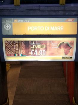 Porto di Mare Metro Station, access