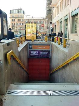 Crocetta Metro Station, access