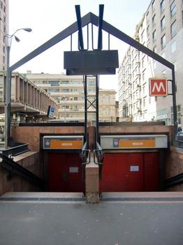 Missori Metro Station access in piazza Velasca