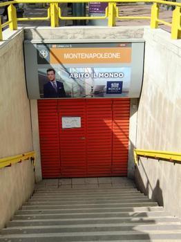 Montenapoleone Metro Station, access