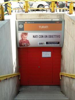 Turati Metro Station, access