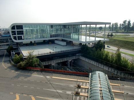 Sheraton Milan Malpensa Hotel. Above: Malpensa Airport Railway Station