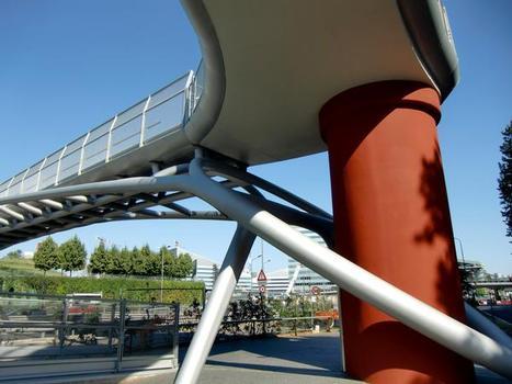 De Gasperi footbridge, detail