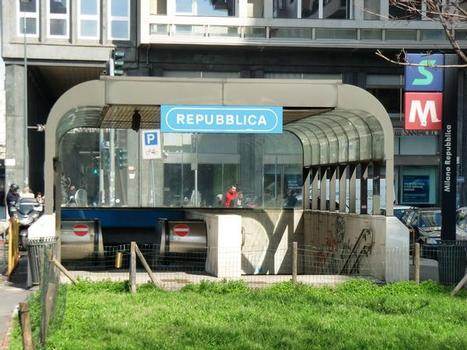 Milano Repubblica Station, access