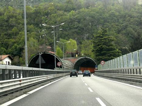 Monte Barro northern portals from Manzoni bridge