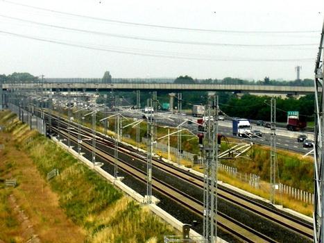 High speed line (AV/AC) Torino-Milano near Marcallo