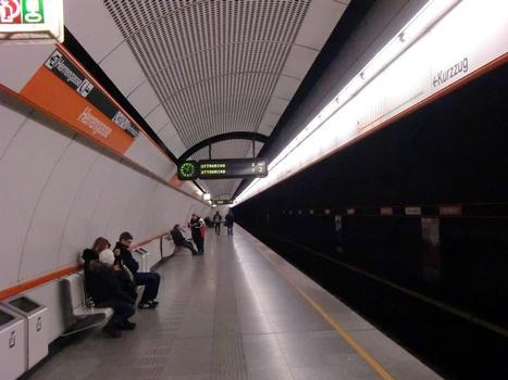 Herrengasse Metro Station, platform