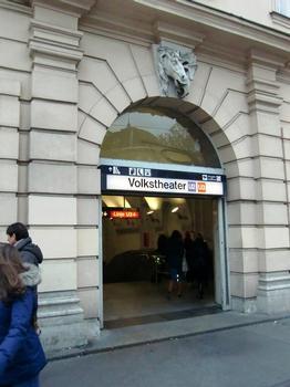 Volkstheater Metro Station, U3-U2 access
