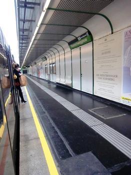 Braunschweiggasse Metro Station, platform