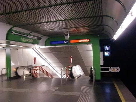 Landstraße Metro Station, line U4 platform
