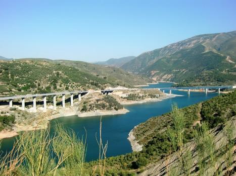 Viaduc de Las Lomas I, Viaduc de Las Lomas II, Viaduc du barrage de Rules