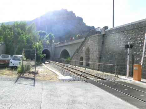 Entrevaux Railroad Tunnel I eastern portal
