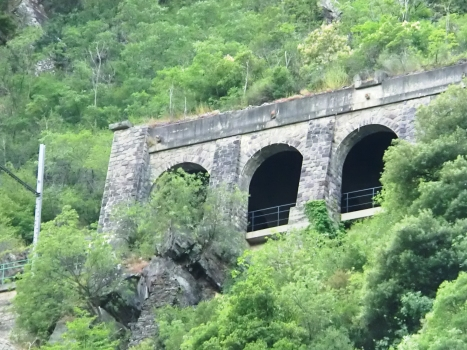 Scarassoui Tunnel southern portal with 21 m long artificial section added in 1970's