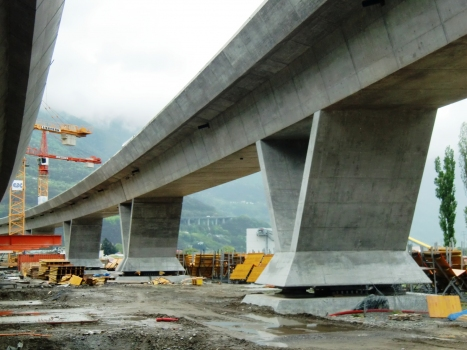 Lugano-Bellinzona Rail Viaduct under construction