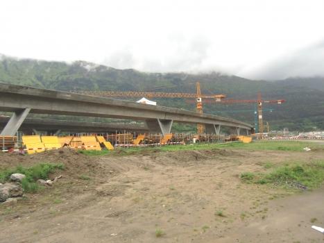 Monte Ceneri basis Tunnel northern access Viaducts under construction