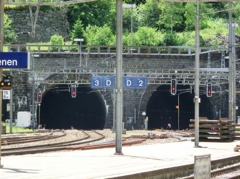 Gotthard Tunnel northern portals