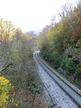 Brescia-Edolo Railroad Line at Demo