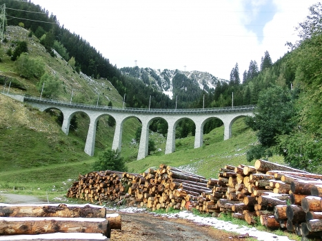 Eisenbahnbrücke Val Bugnei