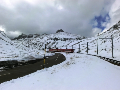 Furka Oberalp Railway at Oberalppass