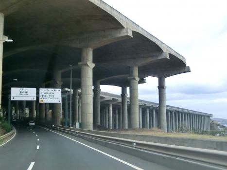 Madeira airport runway bridge from VR1