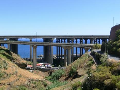 Madeira airport runway bridge (on the backyard) and VR1 Seixo Viaduct