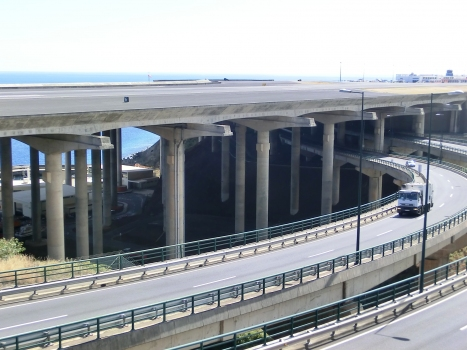 Landebahnbrücke am Flughafen Madeira