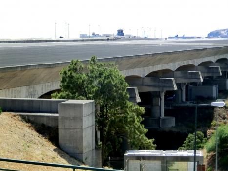 Madeira airport and runway bridge