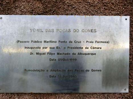 Poças do Gomes Tunnel commemorative plate