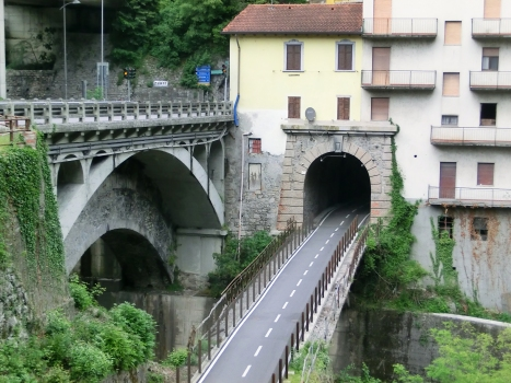 (from left to right) Brembilla SP24 Bridge, Brembilla Tunnel southern portal and Brembilla Bridge