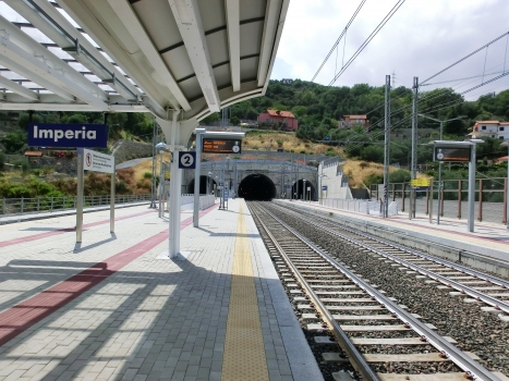 Imperia Station and Bardellini Tunnel eastern portal